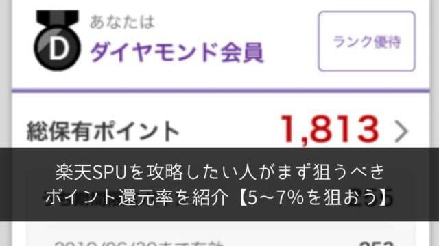 楽天SPUを攻略したい人がまず狙うべきポイント還元率を紹介【5~7%を狙おう】