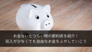 お金ないとつらい時の節約術を紹介!収入が少なくても自由なお金をふやしていこう