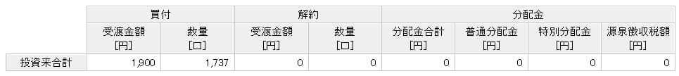 楽天カード決済投資 楽天VTI実績 9か月目②