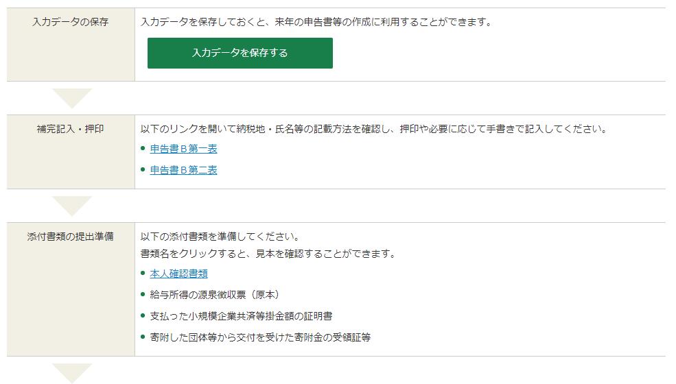 国税庁ホームページ 確定申告書等作成コーナー㊳