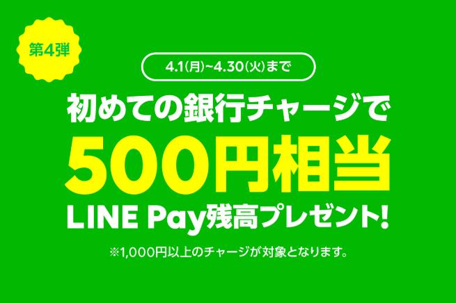 LINEPay2019年4月キャンペーン