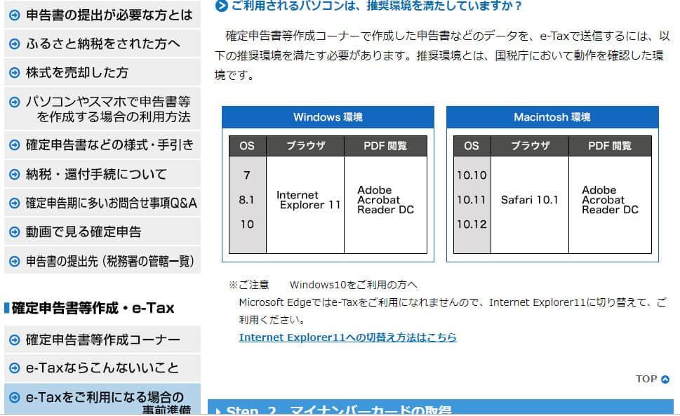 e-Tax 事前準備のページ 隠しページ