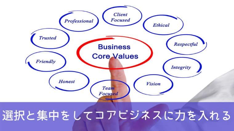 選択と集中をしてコアビジネスに力を入れるため